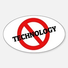Anti Technology Oval Decal