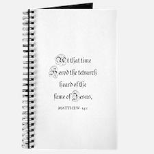 MATTHEW 14:1 Journal