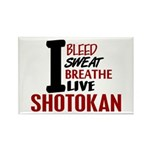 Bleed Sweat Breathe Shotokan Rectangle Magnet