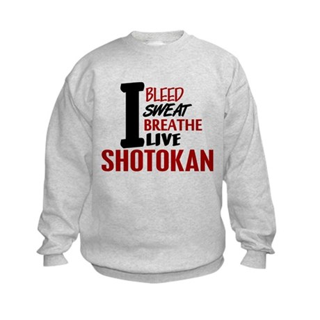 Bleed Sweat Breathe Shotokan Kids Sweatshirt