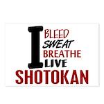 Bleed Sweat Breathe Shotokan Postcards (Package of