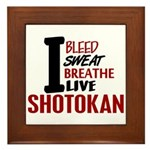 Bleed Sweat Breathe Shotokan Framed Tile