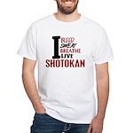 Bleed Sweat Breathe Shotokan White T-Shirt