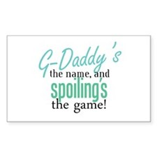 G-Daddy's the Name! Rectangle Decal