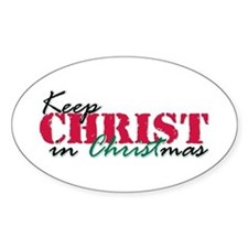 Keep Christ rs Oval Decal