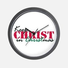 Keep Christ rs Wall Clock