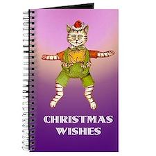 Christmas Jumping Jack Cat Journal