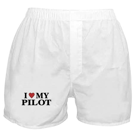 I Love My Pilot Boxer Shorts