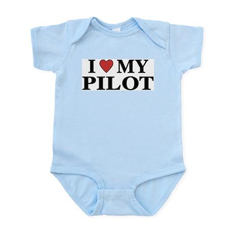 I Love My Pilot Infant Creeper