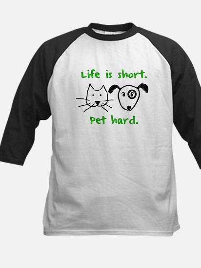 Pet Hard (Pets) Kids Baseball Jersey