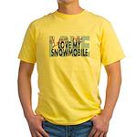Love Me - Snowmobile Yellow T-Shirt