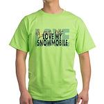 Love Me - Snowmobile Green T-Shirt