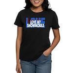 Love Me - Snowmobile Women's Dark T-Shirt