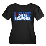 Love Me - Snowmobile Women's Plus Size Scoop Neck
