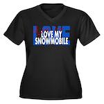 Love Me - Snowmobile Women's Plus Size V-Neck Dark