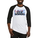 Love Me - Snowmobile Baseball Jersey