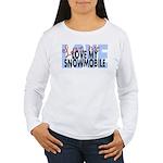 Love Me - Snowmobile Women's Long Sleeve T-Shirt