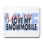 Love Me - Snowmobile Mousepad