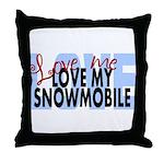Love Me - Snowmobile Throw Pillow