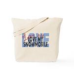 Love Me - Snowmobile Tote Bag