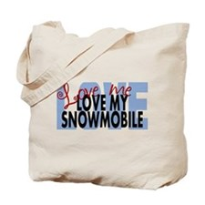 Love Me - Snowmobile Tote Bag