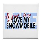 Love Me - Snowmobile Tile Coaster