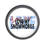 Love Me - Snowmobile Wall Clock