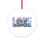Love Me - Snowmobile Ornament (Round)
