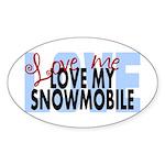 Love Me - Snowmobile Oval Sticker