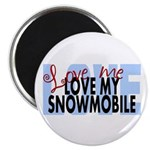 Love Me - Snowmobile Magnet