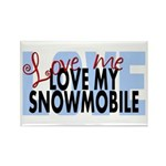 Love Me - Snowmobile Rectangle Magnet