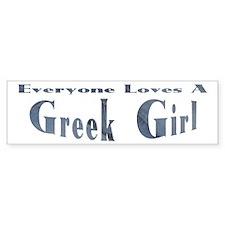 Greek Girl Bumper Bumper Sticker