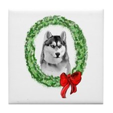 Siberian Christmas Tile Coaster