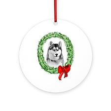 Siberian Christmas Ornament (Round)