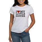 I Love My Little Sister Women's T-Shirt