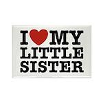 I Love My Little Sister Rectangle Magnet