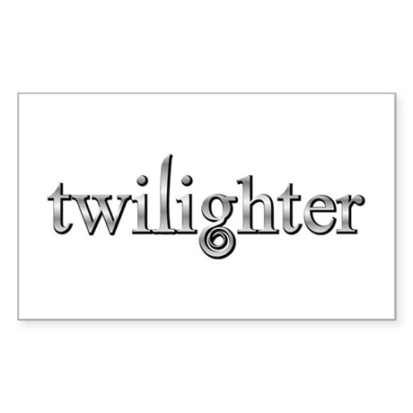 Twilighter Silver Movie Book Fan Sticker (Rectangl