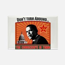 """Commie Obama """"Don't Turn Arou Rectangle Magne"""