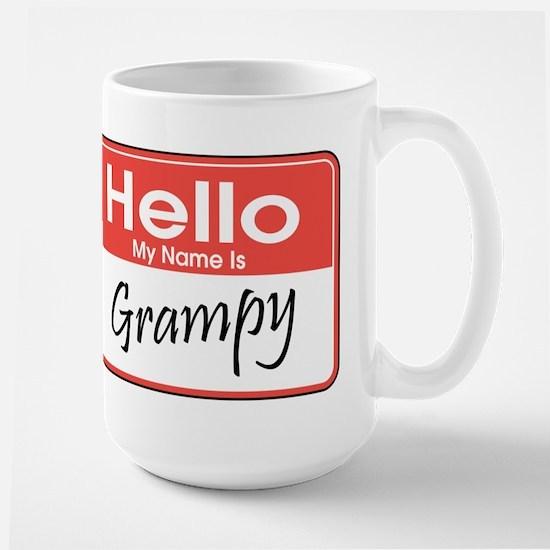 Hello, My Name is Grampy Large Mug