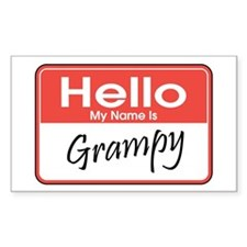 Hello, My Name is Grampy Rectangle Decal
