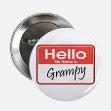 """Hello, My Name is Grampy 2.25"""" Button"""