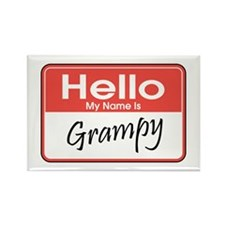 Hello, My Name is Grampy Rectangle Magnet
