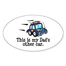 Dad's Police Car Oval Decal