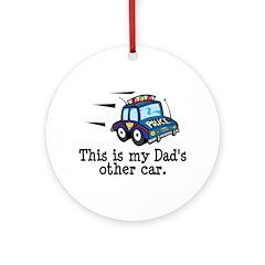 Dad's Police Car Ornament (Round)