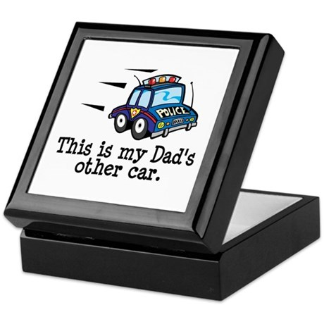 Dad's Police Car Keepsake Box