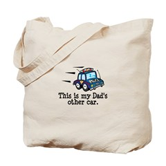 Dad's Police Car Tote Bag
