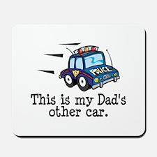 Dad's Police Car Mousepad