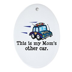 Mom Is A Cop Oval Ornament