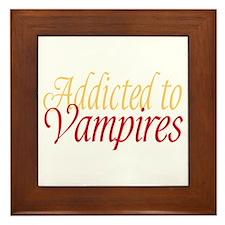 Addicted to Vampires Twilight Fan Framed Tile