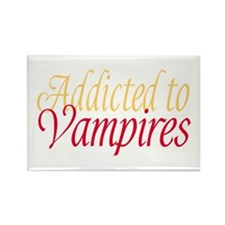 Addicted to Vampires Twilight Fan Rectangle Magnet